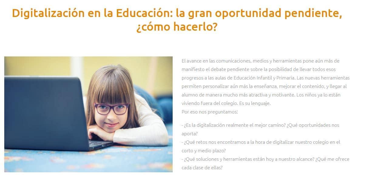 Digitalizacion en la educacion